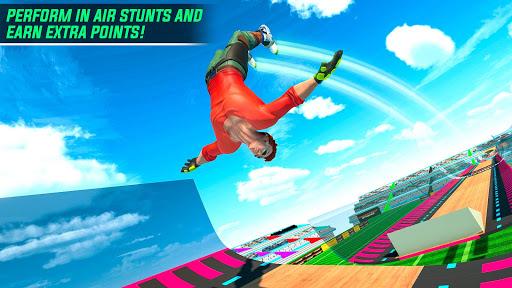 Sky Roller Skate Stunt Games 2021 - Roller Skating 2.1 screenshots 6