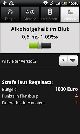 Bußgeldrechner 2.2 screenshots 4