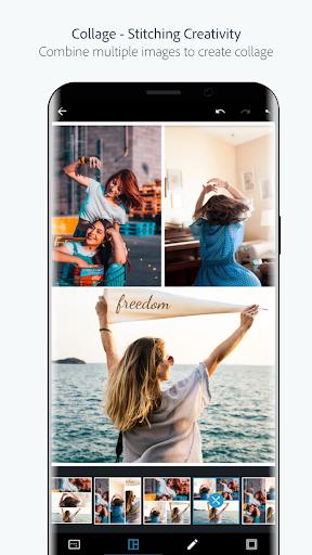 Adobe Photoshop Express:Photo Editor Collage Maker screen 1