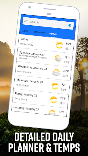 Daily Weather Home - Weather Widget and Launcher android2mod screenshots 2