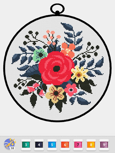 Cross Stitch Club u2014 Color by Numbers with a Hoop 1.4.32 screenshots 23
