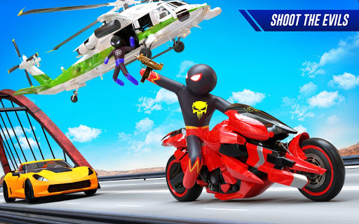Stickman Moto Bike Hero: Crime City Superhero Game 5 Screenshots 5