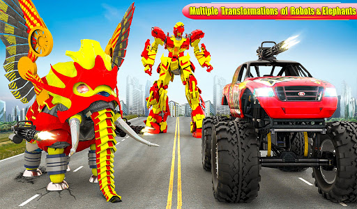 Flying Monster Truck Transform Elephant Robot Game 2.0.9 Screenshots 9