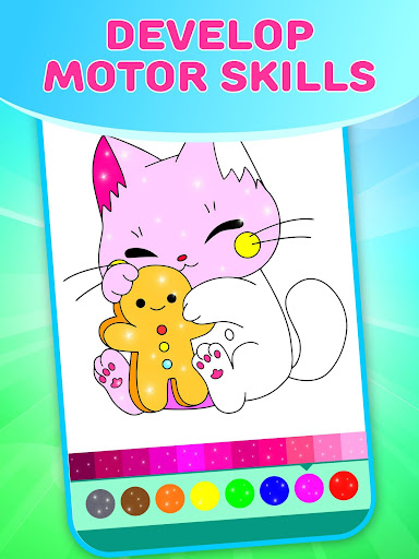 Flower Magic Color-kids coloring book with animals 3.7 screenshots 1