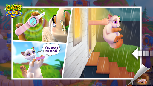 Cats & Magic: Dream Kingdom modiapk screenshots 1