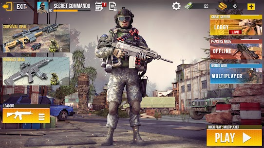 Real Commando Secret Mission Mod Apk (God Mode/Dumb Enemy) 7