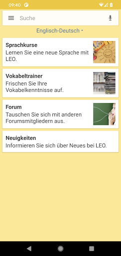 LEO dictionary  screenshots 1