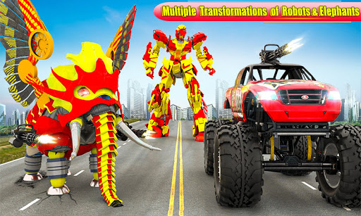 Flying Monster Truck Transform Elephant Robot Game 2.0.9 Screenshots 3