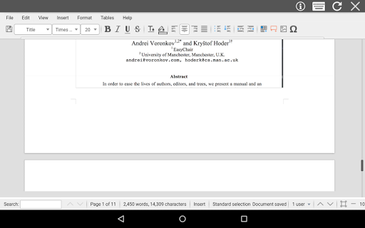 AndroDOC editor for Doc & Word 4.0.8 Screenshots 12