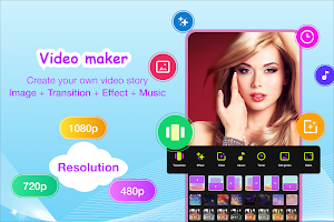 Video maker with photo & music