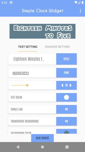 Simple Clock Widget - Word Clock  screenshots 20