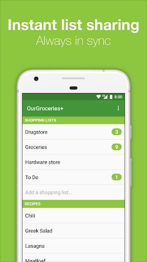 our groceries shopping list screenshot 2