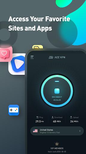 Super VPN Proxy Master & Protector - ACE VPN android2mod screenshots 4