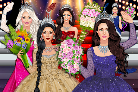 لعبة أزياء ملكة الجمال موضة الفتاة النجمة 1