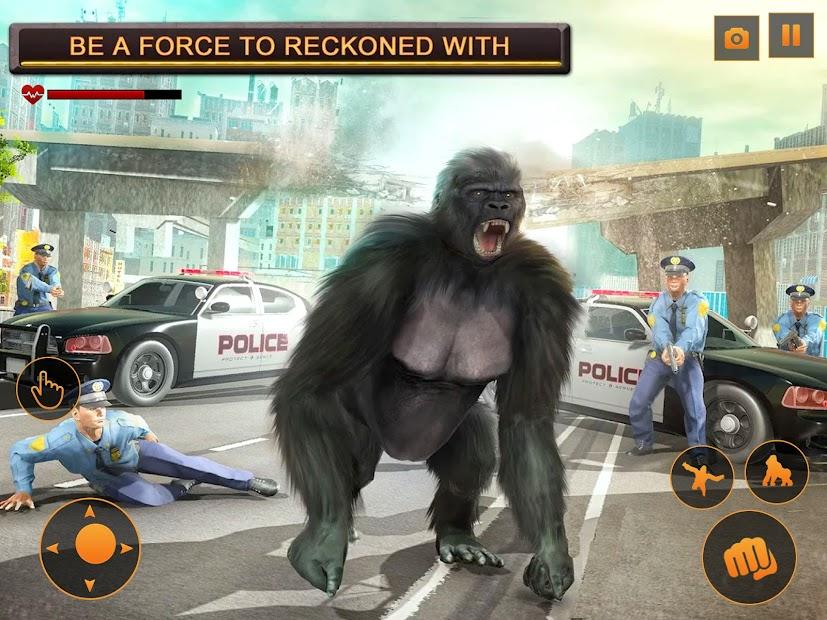 Screenshot 12 de Angry Monster Gorilla - Godzilla King Kong Games para android