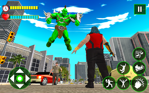 Incredible Monster City Battle - Superhero Games android2mod screenshots 7