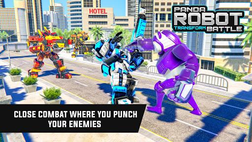 Police Panda Robot Car Transform: Flying Car Games  screenshots 11