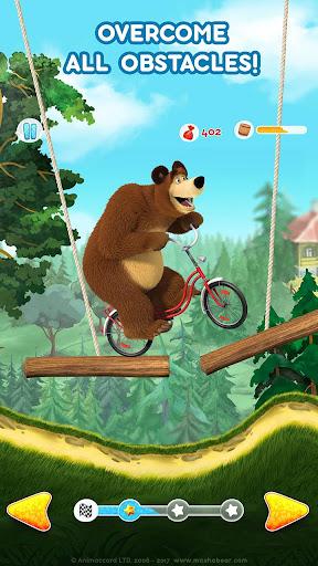 Masha and the Bear: Climb Racing and Car Games apkslow screenshots 3