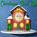 Christmas Animated Clock 3D
