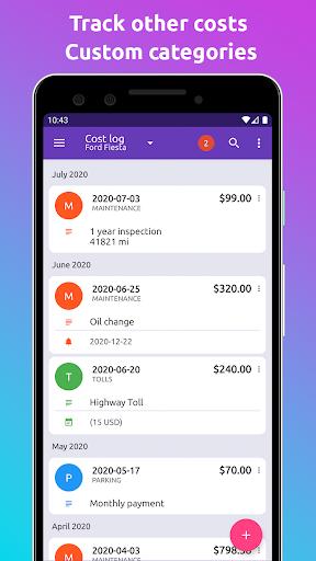 Fuelio: gas log, costs, car management, GPS routes 7.8.1 Screenshots 4