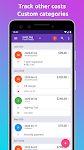 screenshot of Fuelio: gas log, costs, car management, GPS routes