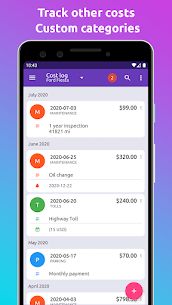 Fuelio: gas log, costs, car management, GPS routes (PRO) 7.7.7 Apk 4