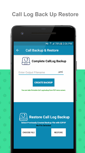 E2PDF - Backup Restore SMS,Call,Contact,TrueCaller  screenshots 3