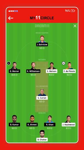 My11 Expert - My11Circle Team & My11 Team Cricket screen 2
