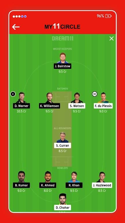 My11 Expert - My11Circle Team & My11 Team Cricket poster 2