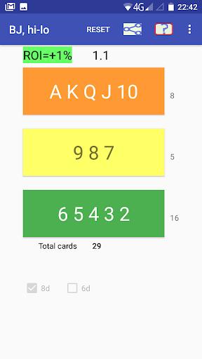 Cards counter,  BlackJack screenshots 2