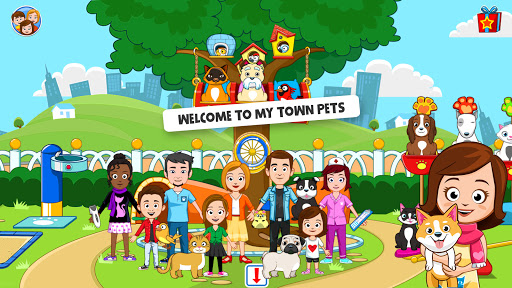 My Town : Pets, Animal game for kids android2mod screenshots 1