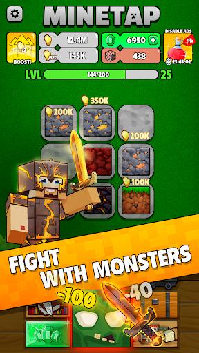 Minetap: Epic Clicker! Tap Crafting & mine heroes 1.5.5 screenshots 2