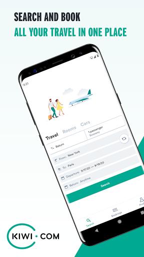 Kiwi.com: Best travel deals: flights, trains, cars 5.59.0 Screenshots 1