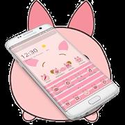 Pink Cute Piggy Theme