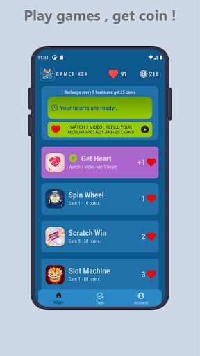 Gamer Key : Free Game Keys  screenshots 1
