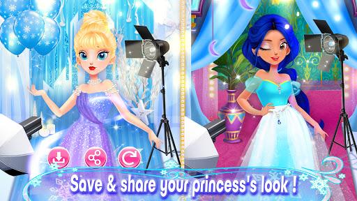 Girl Games: Princess Hair Salon Makeup Dress Up apkslow screenshots 5