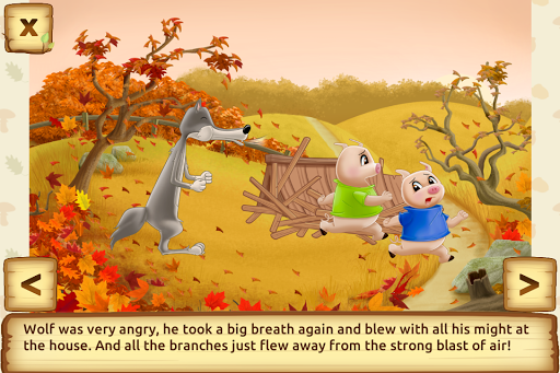 Three Little Pigs - Fairy Tale with Games apkdebit screenshots 4