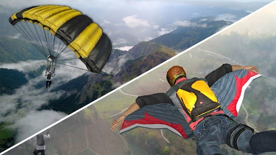 Wingsuit Simulator 3D - Skydiving Game Screenshot