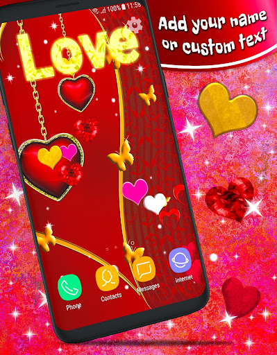 Love Hearts Live Wallpaper ❤️ Couple 3D Wallpaper  screenshots 1