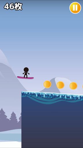 棒人間がスノーボード-超爽快滑り- 1.0 screenshots 1