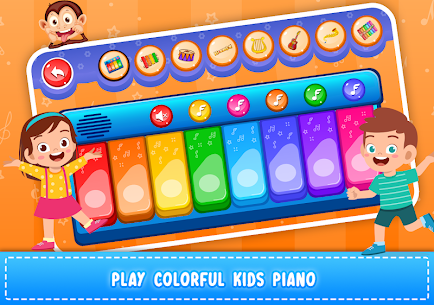 Kids Piano: Animal Sounds & musical Instruments 2