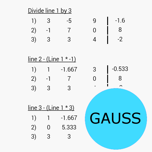 Gaussian elimination Pro For PC Windows (7, 8, 10 and 10x) & Mac Computer