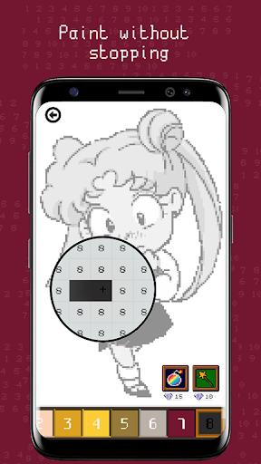 usagi pixel puzzle (anime color number) screenshot 2