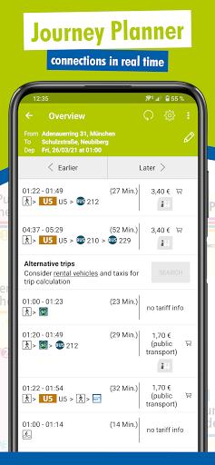 MVV-App u2013 Munich Journey Planner & Mobile Tickets  Screenshots 2
