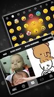 screenshot of Sad Emojis Gravity Keyboard Background