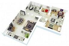3Dホームデザインのアイデア 間取り図のおすすめ画像1