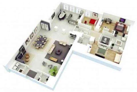 3Dホームデザインのアイデア|間取り図のおすすめ画像1