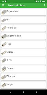 Metal weight calculator