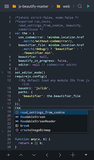 Spck Code Editor / JS Sandbox / Git Client 5.3.2 screenshots 1