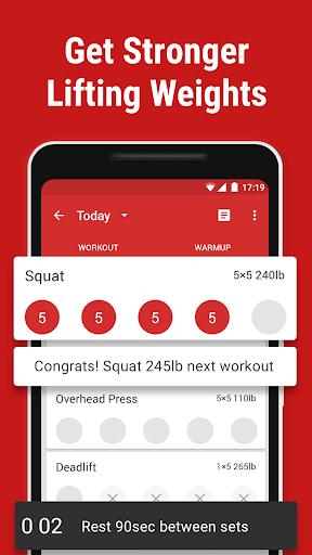 stronglifts 5x5 - weight lifting & gym workout log screenshot 1